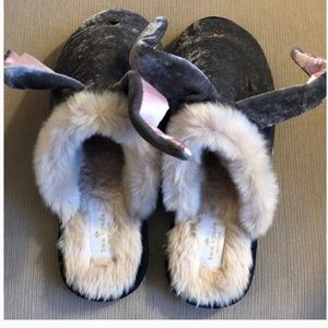 kate spade Shoes - kate spade bonnie bunny velvet slippers size 8 nwt